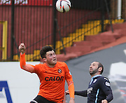 Dundee United's John Souttar and Dundee's Gary Harkins - Dundee United v Dundee at Tannadice Park in the SPFL Premiership<br /> <br />  - © David Young - www.davidyoungphoto.co.uk - email: davidyoungphoto@gmail.com