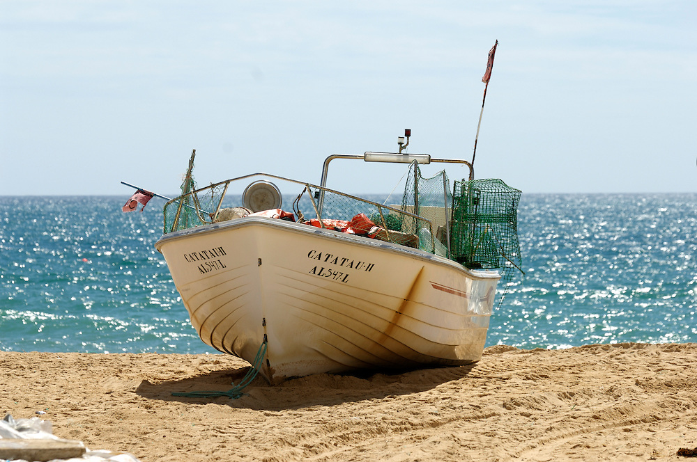Fishing boats and yachts on the Algarve, Portugal