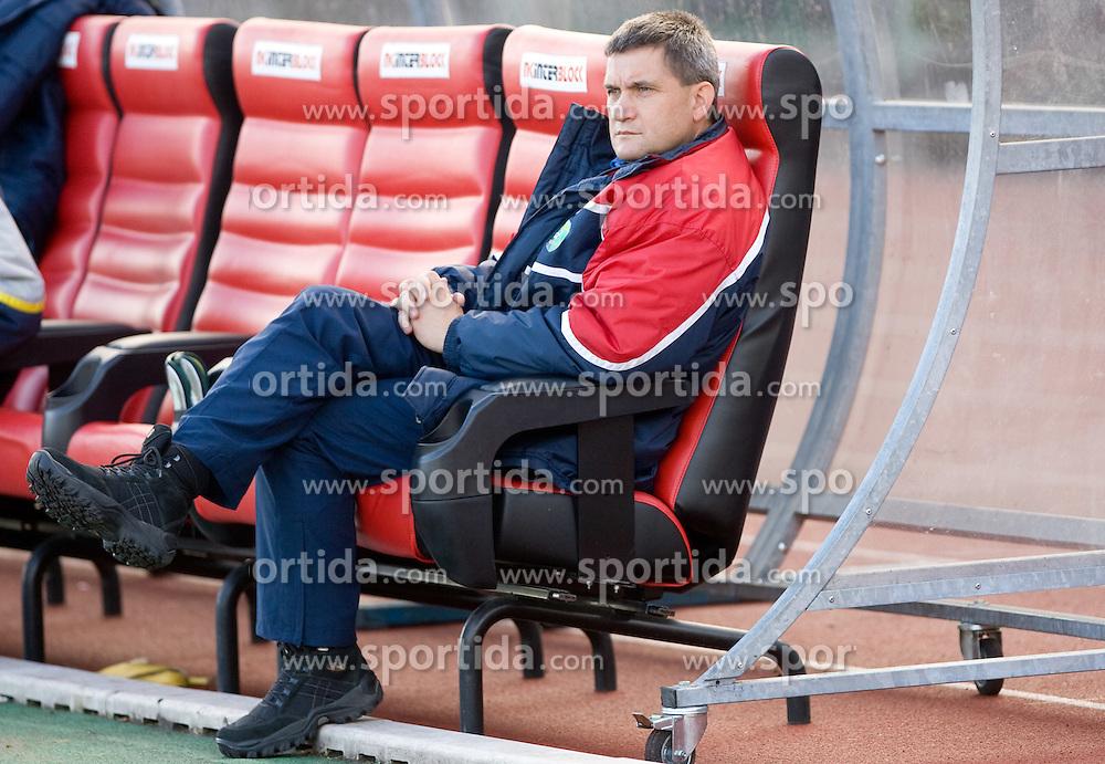 Head coach of Rudar Marijan Pusnik at football match of Round 17 of Slovenian first league between NK Interblock and NK Rudar Velenje,  on November 7, 2009, in ZAK, Ljubljana, Slovenia.  Interblock won 3:1. (Photo by Vid Ponikvar / Sportida)