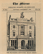 Polytechnic Institution, Regent Street, London, 1838.