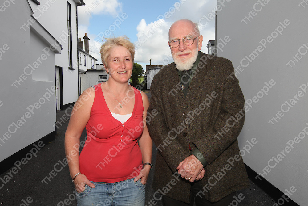 Jenny Carway and Breandan O Madagain pictured at the Carrigaholt Collages 100th Anniversary on Saturday.<br /> Pic. Brian Arthur/ Press 22.