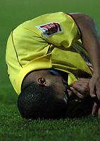 Fotball<br /> England 2004/2005<br /> Foto: SBI/Digitalsport<br /> NORWAY ONLY<br /> <br /> Watford v Rotheham United<br /> Coca-Cola Championship. 20/11/2004.<br /> <br /> Hameur Bouazza (Watford) injures his shoulder two minutes into play.