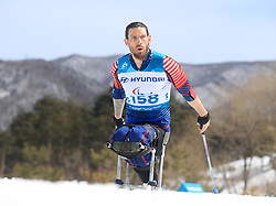 USA's Jeremy Wagner competes in the Men's 7.5km, Sitting Cross Country Skiing at the Alpensia Biathlon Centre during day eight of the PyeongChang 2018 Winter Paralympics in South Korea