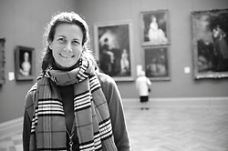 Educator Alice Schwarz for Connections in the European Painting Galleries, October 2010. © 2010 MMA, photographed by Jackie Neale Chadwick - Media_2010_129_0016_1_BW.tif