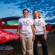 Yasmina Platt and Linda Street-Ely won their class in the 2012 AirVenture Cup race with their Grumman Cheetah, setting a new record in the process.