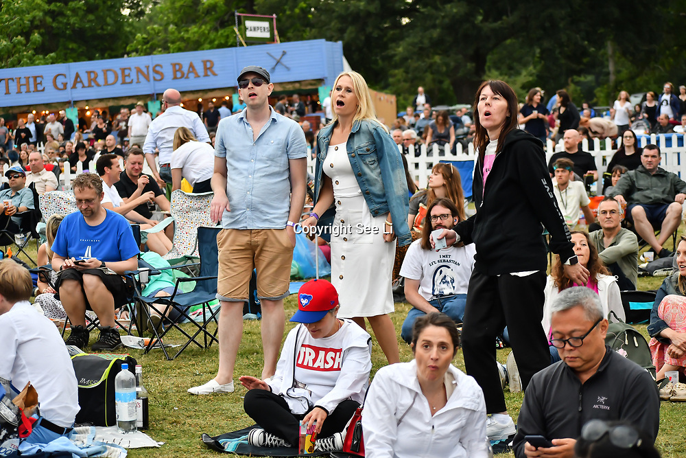Thousands attents the Garbage has sold more than 17 million albums worldwide and performed in over 35 countries lives at Kew the Music 2019 on 13 July 2019, London, UK.