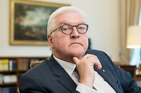 02 JUL 2018, BERLIN/GERMANY:<br /> Frank-Walter Steinmeier, Bundespraesident, waehrend einem Interview, Amtszimmer des Bundespraesidenten, Schloss Bellevue<br /> IMAGE: 20180702-01-012<br /> KEYWORDS: Bundespr&auml;sident