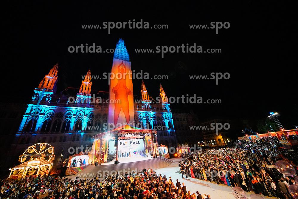 08.06.2019, Rathaus, Wien, AUT, Life Ball, im Bild die Bühne // during the Life Ball at the Rathaus in Wien, Austria on 2019/06/08. EXPA Pictures © 2019, PhotoCredit: EXPA/ Florian Schroetter