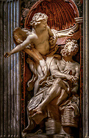 """Habakkuk and the Angel (Bernini) - Basilica of Santa Maria del Popolo Chigi Chapel""..."