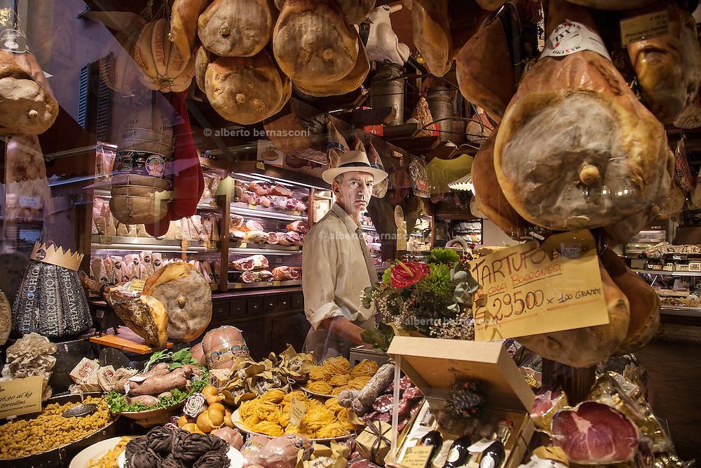 Bologna, Gastronomy shop La Baita, Stefano Moruzzi