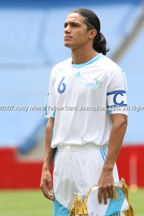 16 June 2007: Guatemala's Gustavo Cabrera. The Canada Men's National team defeated the Guatemala Men's National Team 3-0 at Gillette Stadium in Foxboro, Massachusetts in a 2007 CONCACAF Gold Cup quarterfinal.