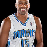 Vince Carter of the Orlando Magic media day at the Amway Center in downtown Orlando, Florida.