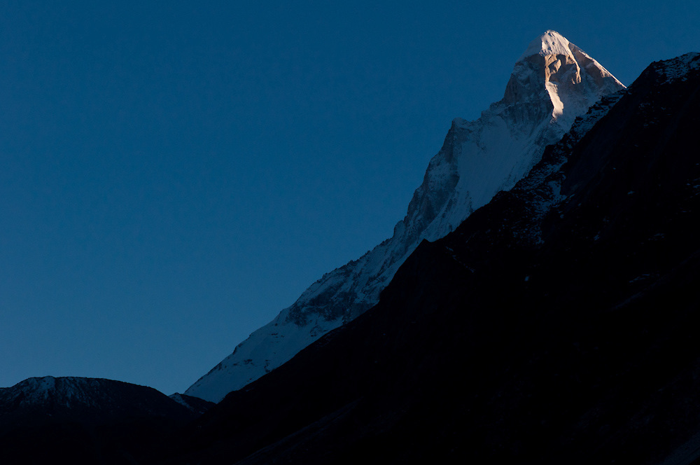 """Shivling - the """"Indian Matterhorn"""" - towers to the south of the source of the Ganges."""