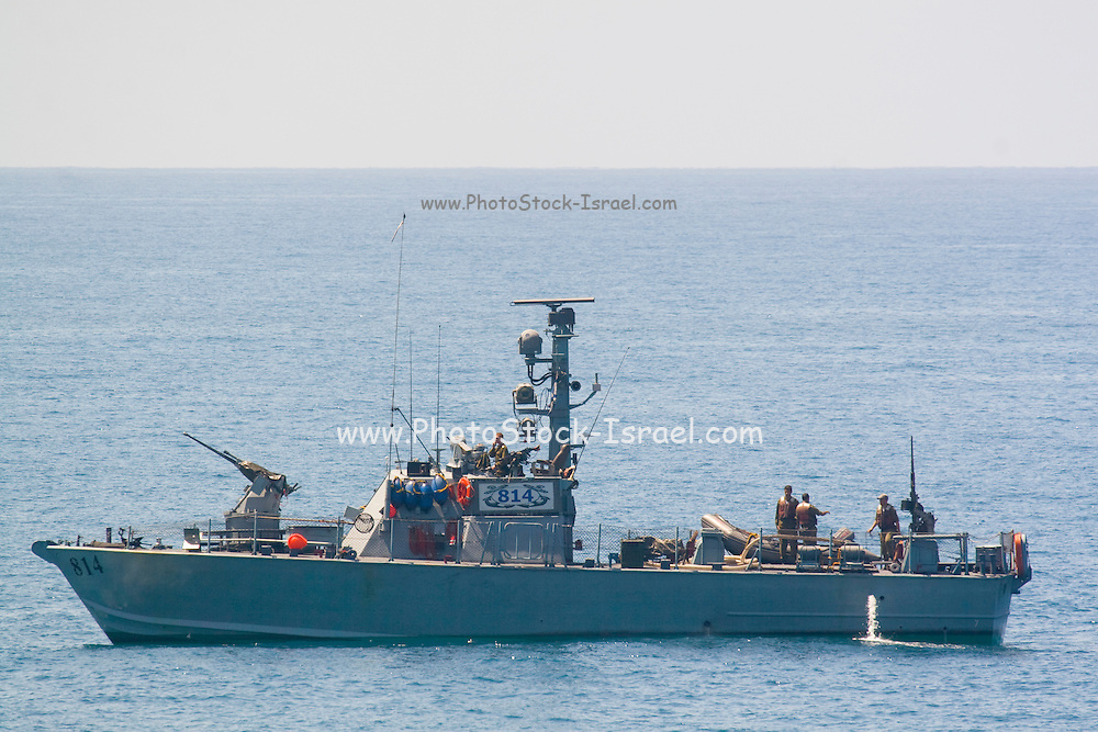 Dabur class, Israeli navy patrol boat out at sea