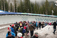 The Whistler Sliding Centre hosted the 4-man bobsleigh finals during the 2010 Olympic Winter Games in Whistler, BC Canada.