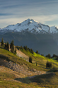 Glacier Peak seen from Miner's Ridge, Glacier Peak Wilderness North Cascades Washington.<br /> <br /> Glacier Peak (10,541&prime;) or Dakobed is the most isolated of the five major stratovolcanoes of the Cascade Volcanic Arc.