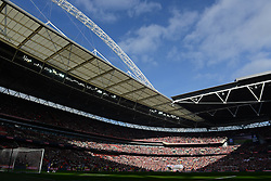 A general view of Wembley Stadium as Bristol City play Walsall in the Johnstone Paint Trophy - Photo mandatory by-line: Dougie Allward/JMP - Mobile: 07966 386802 - 22/03/2015 - SPORT - Football - London - Wembley Stadium - Bristol City v Walsall - Johnstone Paint Trophy Final