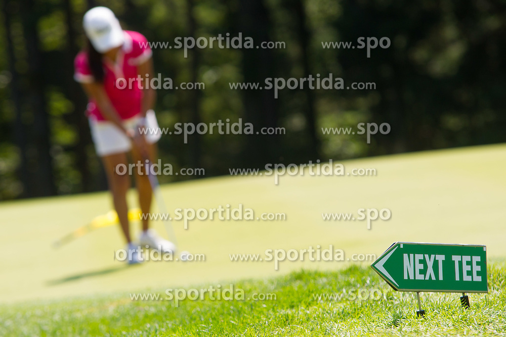 Celine Boutier of France during golf competition in day 3 of International European Ladies Amateur Championship 2012, on July 27, 2012 in Smlednik at Ljubljana, Slovenia. (Photo by Grega Valancic / Sportida)