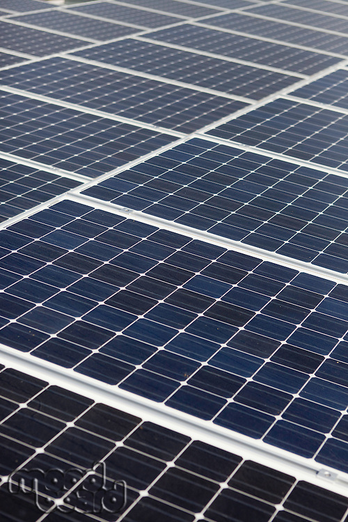 Diagonal line of solar array