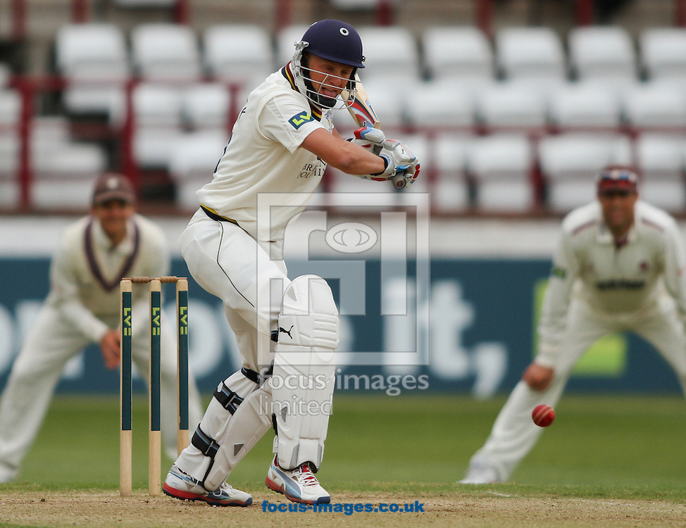 Picture by Tom Smith/Focus Images Ltd 07545141164<br /> 07/06/2013<br /> Scott Borthwick of Durham County Cricket Club batting during day two of the LV County Championship Div One match at the County Ground, Taunton, Taunton.