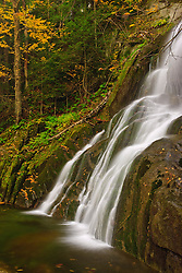 Moss Geln Falls in Vermont's Green Mountains. Granville Reservation State Park.