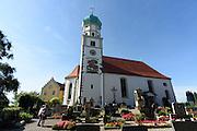 Wasserburg, Kirche St. Georg, Bodensee, Bayern, Deutschland