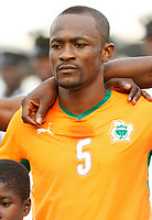 Photo: Steve Bond/Richard Lane Photography.<br />Nigeria v Ivory Coast. Africa Cup of Nations. 21/01/2008. Didier Zakora of Spurs lines up for Ivory Coast