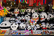 Tourist souvenirs for sale at the Temple of Heaven Park during summer in Beijing, China