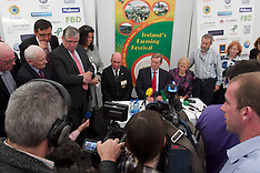 Media Room Enda Kenny at National Ploughing Championships, at Ratheniska, Co. Laois.