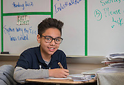 Jesus Ramirez poses for a photograph at Edison Middle School, February 19, 2015.