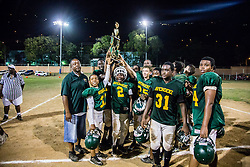 The Avengerz take second place.  Avengerz vs. Sharks .  Lionel Roberts Stadium.  St. Thomas, VI.  15 August 2015.  © Aisha-Zakiya Boyd