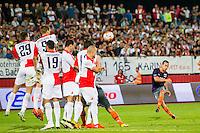 NOVI SAD - 18-08-2016, Vojvodina - AZ, Karadjordje Stadion, AZ speler Stijn Wuytens scoort hier de 0-3, doelpunt.