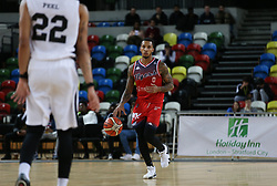 Gentry Thomas of Bristol Flyers dribbles the ball - Photo mandatory by-line: Arron Gent/JMP - 20/11/2019 - BASKETBALL - Copper Box Arena - London, England - London Lions v Bristol Flyers - British Basketball League Cup