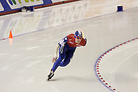 Calgary - December 5, 2009 - Essent ISU World Cup Speedskating at the Olympic Oval in Calgary.  Ronald Mulder of The Netherlands races in the men's 500m Division A event.  Mulder finished 8th with a time of 34.77 seconds...©2009, Sean Phillips.http://www.Sean-Phillips.com