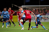 SYDNEY, AUSTRALIA - APRIL 10: Shanghai SIPG FC player Hulk (10) kicks the ball at The AFC Champions League football game between Sydney FC and Shanghai SIPG FC on April 10, 2019, at Netstrata Jubilee Stadium in Sydney, Australia. (Photo by Speed Media/Icon Sportswire)