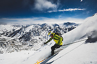 Rob Lea backcountry skiing Little Superior Peak, Wasatch Mountains, Utah.