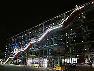 Centre Pompidou at night, Paris.