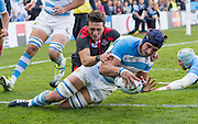 Gloucester, Great Britain, Argentina, Lock, Tomas LAVANINI, runs in to score a first half try during the Argentina vs Georgia, Pool C. game. 2015 Rugby World Cup, Venue. Kingsholm Stadium. England, Friday - 25/09/2015 <br /> [Mandatory Credit; Peter Spurrier/Intersport-images]