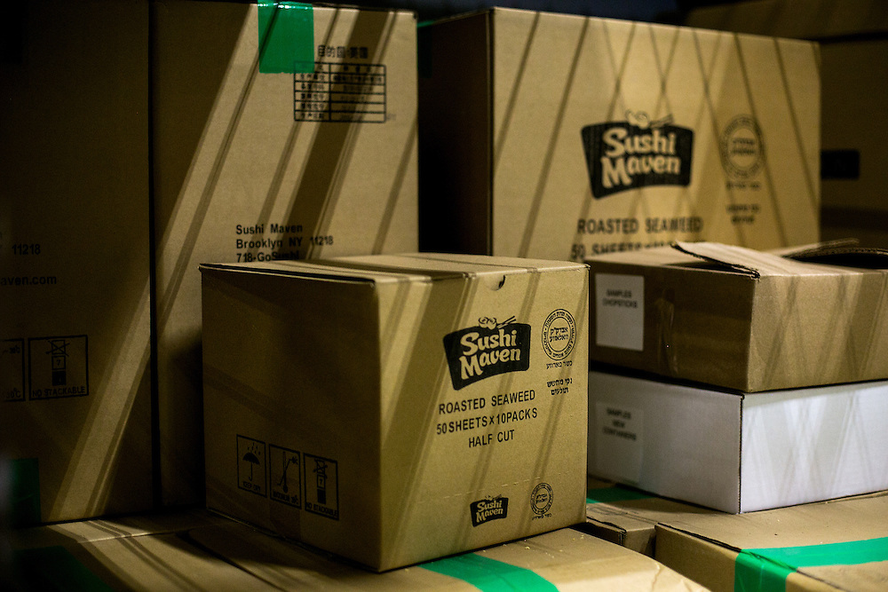 BROOKLYN, NY - JUNE 6, 2016: General views at the processing and distribution facility of Sushi Maven in the Borough Park neighborhood of Brooklyn, New York. CREDIT: Sam Hodgson for The New York Times.