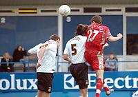 Photo: Kevin Poolman.<br />Luton Town v Blackburn Rovers. The FA Cup. 27/01/2007. Matt Derbyshire (no 27) heads home Blackburn's third goal.