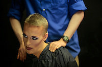 WKNpride:  CRYSTAL CITY, VA: MARAM 201799 CAPTION:  Drag Queens prepare and perform for Freddie's Follies at Freddie's in Crystal City June 01, 2008  ? Destiny B. Childs, the host of the show, applies her makeup.