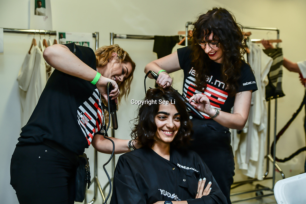 Backstage at Fashion Scout - SS19 Day 3, on 15 September 2019, London, UK