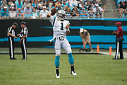 Cam Newton warms up during a TV timeout in the New Orleans Saints 34 to 13 victory over the Carolina Panthers.