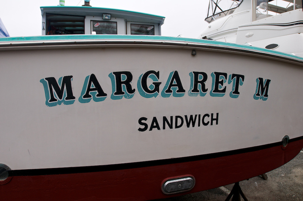 April 27, 2011 - The stern of the Margaret M a lobster boat  operated by Dave Casoni out of Sandwich, MA.
