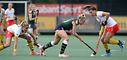 Surbiton's Hannah Martin takes the attack to the Den Bosch defence during their semi final of the EHCC 2017 at Den Bosch HC, The Netherlands, 3rd June 2017