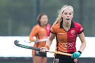 Eindhoven - Oranje Rood - Amsterdam  Dames, 1e ronde Playoffs, Eerste wedstrijd, Hoofdklasse Hockey Dames, Seizoen 2017-2018, 29-04-2018, Oranje Rood - Amsterdam 0-3,  Yibbi Jansen (Oranje-Rood)<br /> <br /> (c) Willem Vernes Fotografie