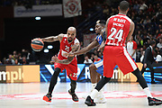 M'Baye Amath blocco, AX ARMANI EXCHANGE OLIMPIA MILANO vs STELLA ROSSA MTS BELGRADO, EuroLeague 2017/2018, Mediolanum Forum Assago Milano 29 dicembre 2017 - foto BERTANI/Ciamillo