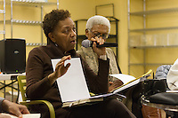 The Hyde Park Chapter of OWL &ndash; The Voice of Women over 40 hosted a panel discussion of the book, &ldquo;Negroland&rdquo; by local author, Margo Jefferson Saturday, February 4th, 2017 in the basement of the Treasure Island grocery store located at 1526 E. 55th Street.<br /> <br /> 9932, 9954, 9956 &ndash; Panelist, Dolores Cross discusses the book, &ldquo;Negroland&rdquo; by local author, Margo Jefferson.<br /> <br /> Please 'Like' &quot;Spencer Bibbs Photography&quot; on Facebook.<br /> <br /> All rights to this photo are owned by Spencer Bibbs of Spencer Bibbs Photography and may only be used in any way shape or form, whole or in part with written permission by the owner of the photo, Spencer Bibbs.<br /> <br /> For all of your photography needs, please contact Spencer Bibbs at 773-895-4744. I can also be reached in the following ways:<br /> <br /> Website &ndash; www.spbdigitalconcepts.photoshelter.com<br /> <br /> Text - Text &ldquo;Spencer Bibbs&rdquo; to 72727<br /> <br /> Email &ndash; spencerbibbsphotography@yahoo.com