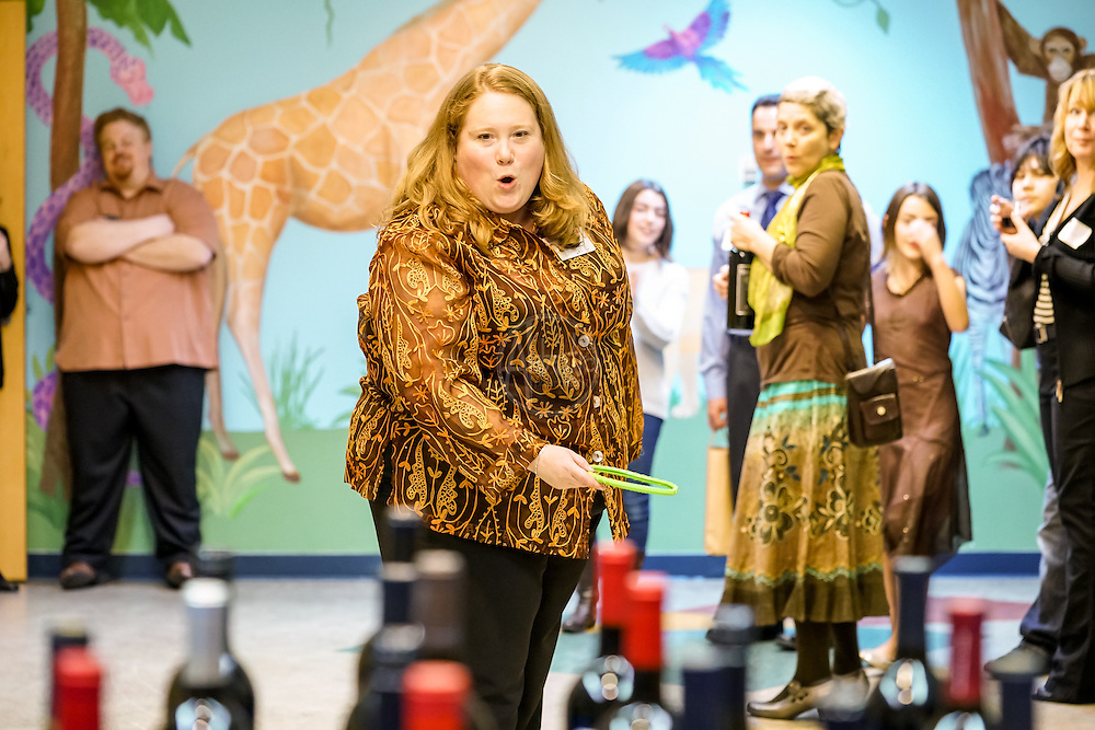 Seattle Childrens Museum 36th Birthday Celebration 2016. Wine Ring Toss. Photo by Alabastro Photography.