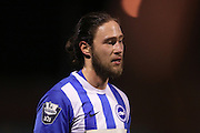 U21 Brighton and Hove Albion's Vahid Hambo during the Barclays U21 Premier League match between U21 Brighton and Hove Albion and U21 Newcastle United at the Checkatrade.com Stadium, Crawley, England on 23 March 2016.